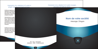 modele depliant 2 volets  4 pages  gris gris fonce mat MLIG63928