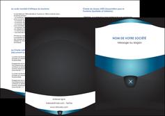 imprimer depliant 2 volets  4 pages  gris gris fonce mat MLGI63938