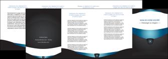 modele depliant 4 volets  8 pages  gris gris fonce mat MLIGBE63940