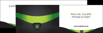 Commander Carte de visite double  Carte commerciale de fidélité modèle graphique pour devis d'imprimeur Carte de visite Double - Paysage
