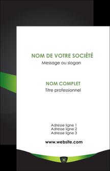 personnaliser modele de carte de visite gris vert fond MIF64012