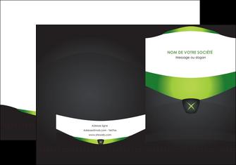 imprimer pochette a rabat gris vert fond MIF64014