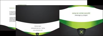 impression depliant 2 volets  4 pages  gris vert fond MLIG64018