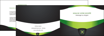 impression depliant 2 volets  4 pages  gris vert fond MIF64018