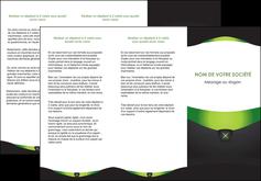 personnaliser modele de depliant 3 volets  6 pages  gris vert fond MIF64028