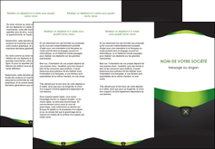personnaliser modele de depliant 3 volets  6 pages  gris vert fond MLIGBE64028