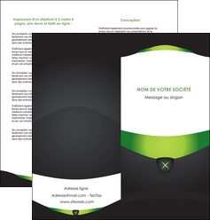 faire modele a imprimer depliant 2 volets  4 pages  gris vert fond MLGI64030