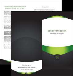 faire modele a imprimer depliant 2 volets  4 pages  gris vert fond MLIGBE64030