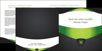creation graphique en ligne depliant 2 volets  4 pages  gris vert fond MIF64032