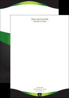 personnaliser modele de tete de lettre gris vert fond MIF64034