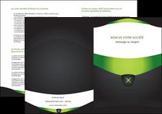 cree depliant 2 volets  4 pages  gris vert fond MIF64042