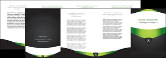 creer modele en ligne depliant 4 volets  8 pages  gris vert fond MIF64044