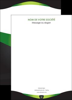 personnaliser modele de affiche gris vert fond MIF64046