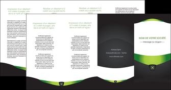 impression depliant 4 volets  8 pages  gris vert fond MLIG64048