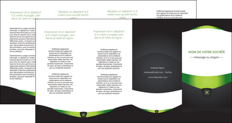 impression depliant 4 volets  8 pages  gris vert fond MIF64048