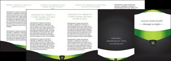 realiser depliant 4 volets  8 pages  gris vert fond MIF64050