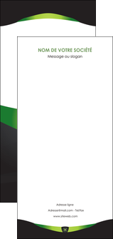 faire modele a imprimer flyers gris vert fond MIF64052