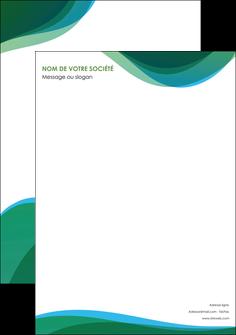 maquette en ligne a personnaliser affiche vert bleu couleurs froides MLIP64168