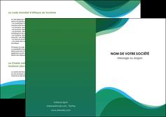 impression depliant 2 volets  4 pages  vert bleu couleurs froides MLIP64170