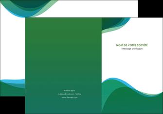 creation graphique en ligne pochette a rabat vert bleu couleurs froides MLIP64178