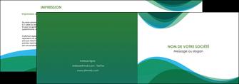 personnaliser maquette depliant 2 volets  4 pages  vert bleu couleurs froides MLGI64180