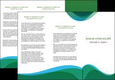creation graphique en ligne depliant 3 volets  6 pages  vert bleu couleurs froides MLIP64190
