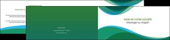 faire depliant 2 volets  4 pages  vert bleu couleurs froides MLIP64200