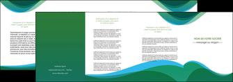 creer modele en ligne depliant 4 volets  8 pages  vert bleu couleurs froides MLGI64206