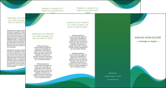 modele en ligne depliant 4 volets  8 pages  vert bleu couleurs froides MLIP64210