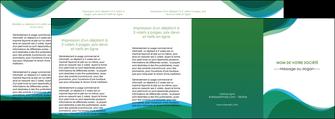 imprimerie depliant 4 volets  8 pages  vert bleu couleurs froides MLGI64212