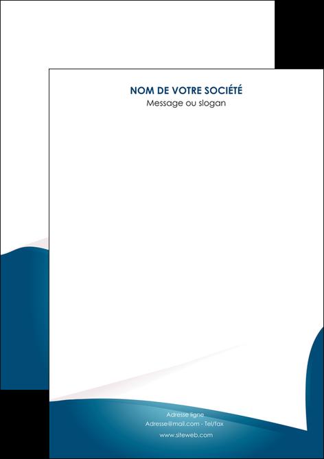 modele flyers bleu fond  bleu couleurs froides MLGI64238