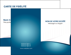 imprimer carte de visite bleu fond  bleu couleurs froides MIF64246