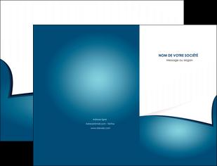 maquette en ligne a personnaliser pochette a rabat bleu fond  bleu couleurs froides MIF64248
