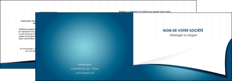 creer modele en ligne depliant 2 volets  4 pages  bleu fond  bleu couleurs froides MIF64252