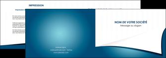 faire depliant 2 volets  4 pages  bleu fond  bleu couleurs froides MIF64254