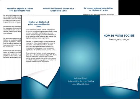 cree depliant 3 volets  6 pages  bleu fond  bleu couleurs froides MLGI64262