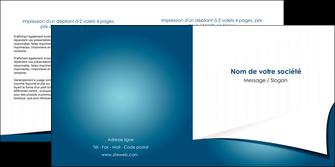 personnaliser maquette depliant 2 volets  4 pages  bleu fond  bleu couleurs froides MIF64266