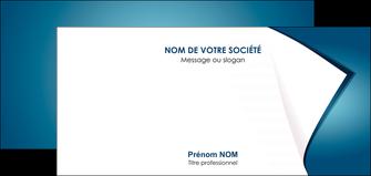 exemple carte de correspondance bleu fond  bleu couleurs froides MIF64274