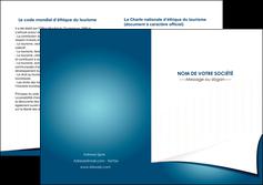 faire modele a imprimer depliant 2 volets  4 pages  bleu fond  bleu couleurs froides MIF64276