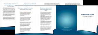 creation graphique en ligne depliant 4 volets  8 pages  bleu fond  bleu couleurs froides MIF64280