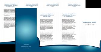 realiser depliant 4 volets  8 pages  bleu fond  bleu couleurs froides MIF64284
