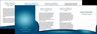 exemple depliant 4 volets  8 pages  bleu fond  bleu couleurs froides MIF64286