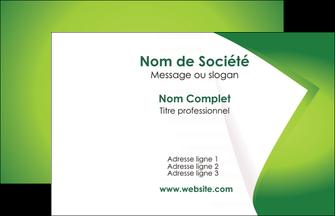 imprimer carte de visite vert fond vert abstrait MIF64340