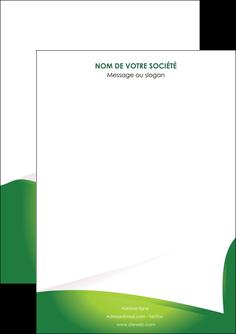 personnaliser modele de flyers vert fond vert abstrait MIF64342