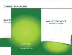 faire modele a imprimer carte de visite vert fond vert abstrait MIF64350