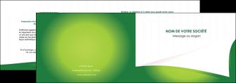 realiser depliant 2 volets  4 pages  vert fond vert abstrait MIF64356