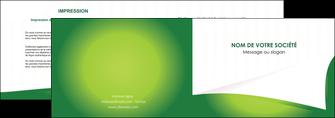 personnaliser modele de depliant 2 volets  4 pages  vert fond vert abstrait MIF64358