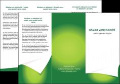 maquette en ligne a personnaliser depliant 3 volets  6 pages  vert fond vert abstrait MIF64366
