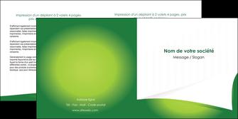 impression depliant 2 volets  4 pages  vert fond vert abstrait MIF64370