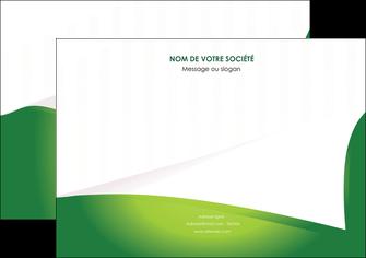 faire modele a imprimer flyers vert fond vert abstrait MIF64374